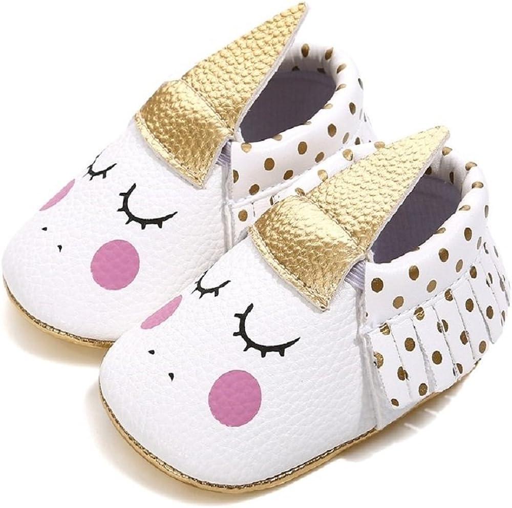 Bebila Unicorn Baby Moccasins Pu