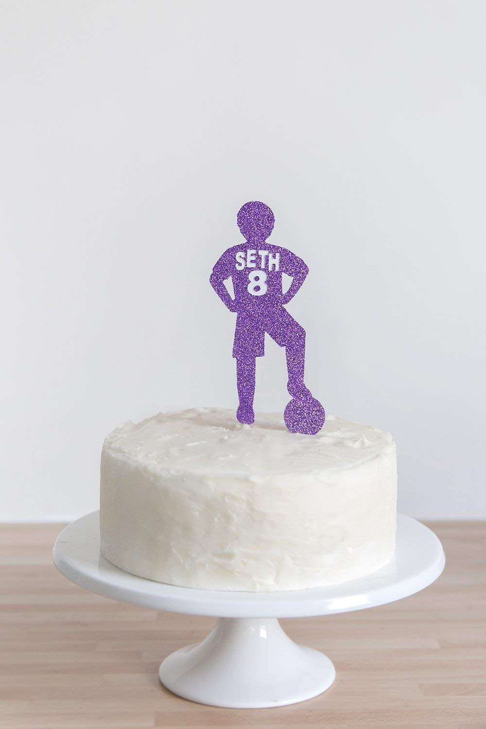 Enjoyable Birthday Cake Topper Football Player Name And Age Party Cake Personalised Birthday Cards Paralily Jamesorg