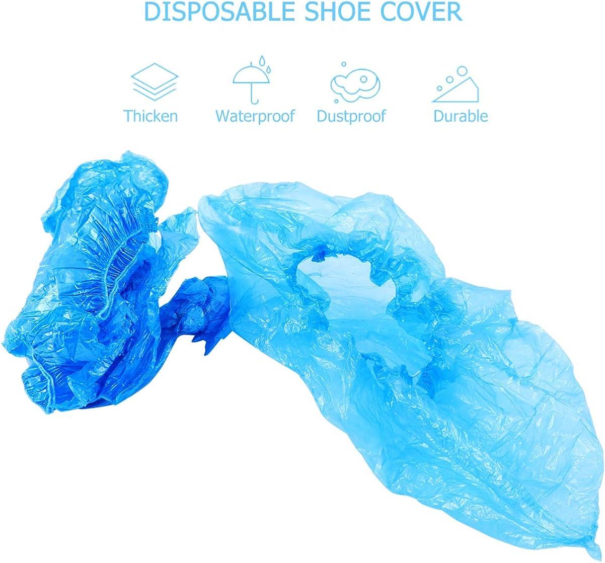 Baluue Couvre-Chaussures en Plastique Imperm/éables Antid/érapants Antid/érapants Nettoyage de Tapis Couvre-Chaussures Tapis Int/érieur Protection de Sol 100 Pi/èces 50 Paires
