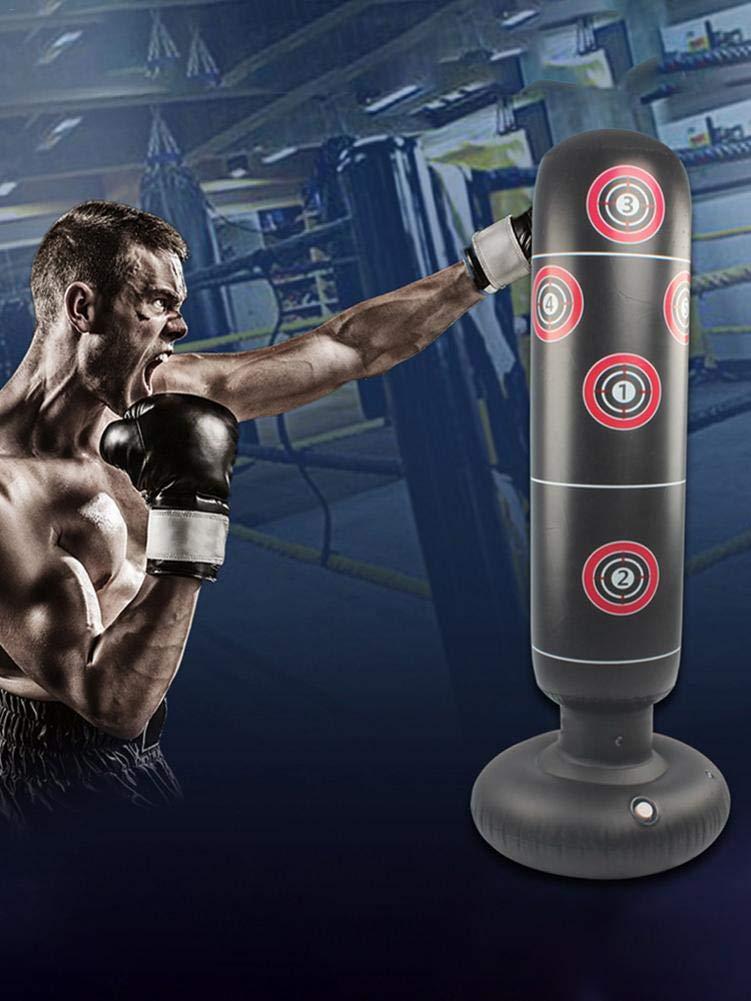1.45m // 1.55m Punching Ball Gonflable pour Adulte Enfants windyday Sac De Boxe Gonflable Karat/é Fitness MMA Sac De Frappe Boxe sur Pied