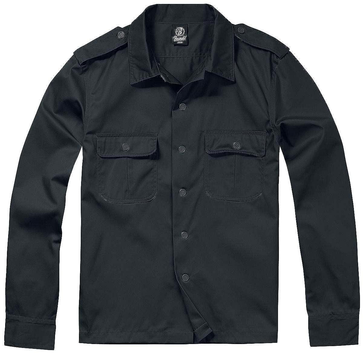 Brandit Camisa Manga Larga US Camisa Beige