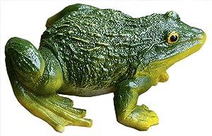 Funnuf Sitting Frog Garden Statue Figurine Toad Sculpture Decoration Model