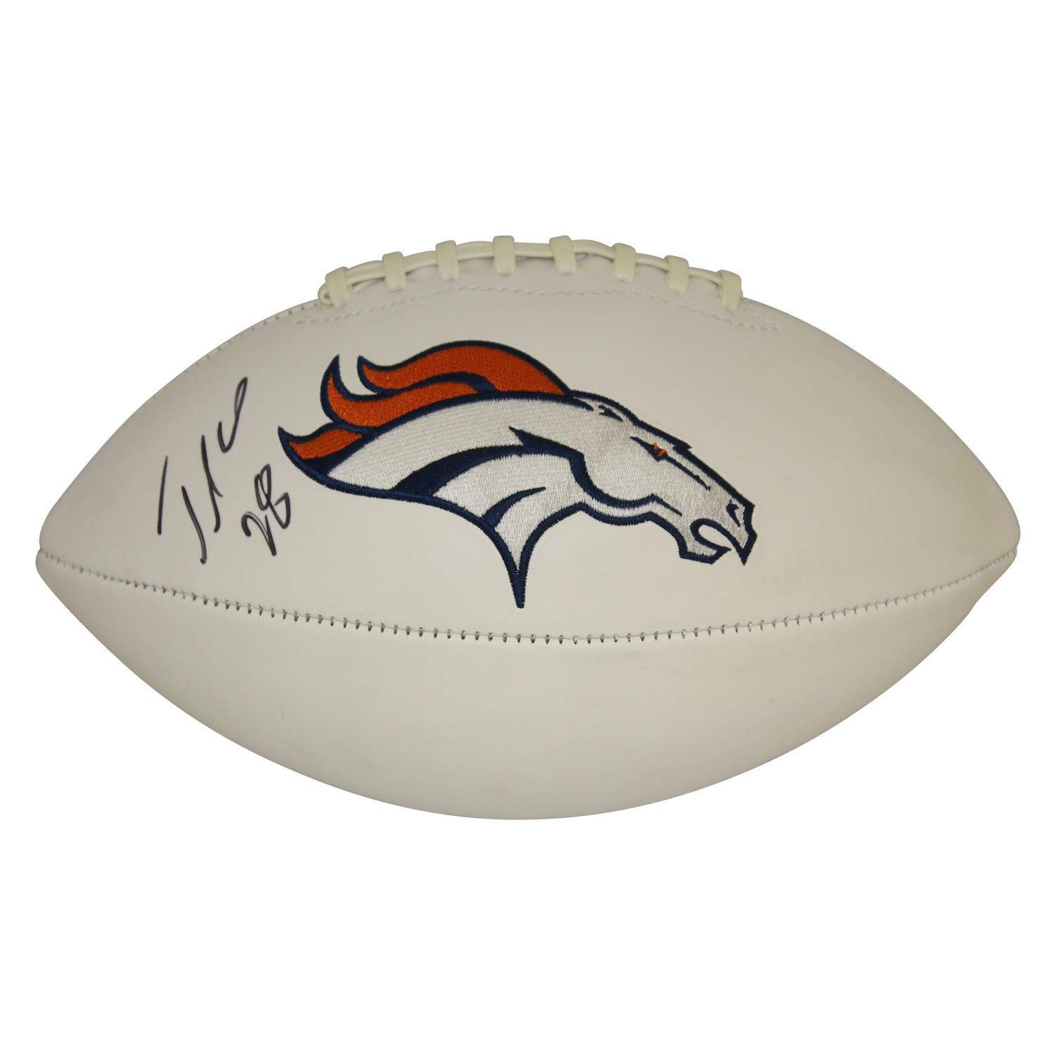 Jamaal Charles Autographed Signed Denver Broncos White Panel Football - Certified Authentic