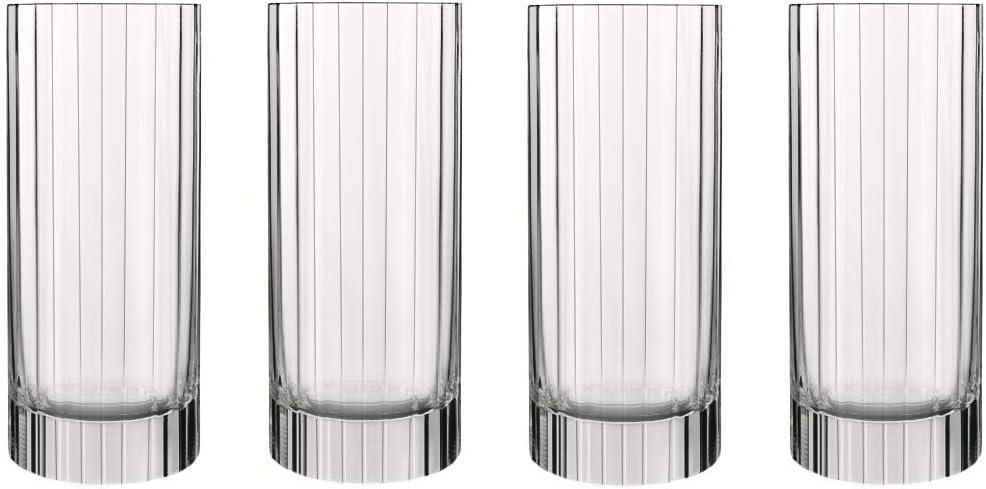 Luigi Bormioli Bach 16.25 oz. Beverage/Hiball/Glass, Set of 4, Clear