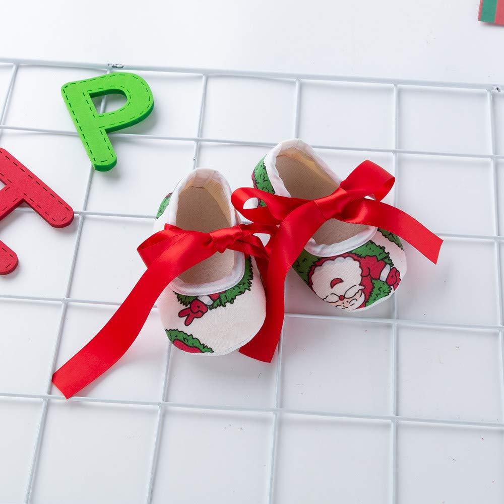 Leggings 0-18 Mesi Scarpe Coordinati Bambine Neonata Vestiti Abbigliamento Natale Albero Bimba Abiti Completo Regalo//Rosso Bambina Natale Costume Completo Fasce per Capelli 4 PCS Abito