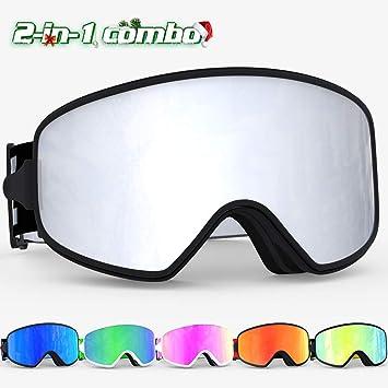 b37fefca034a COPOZZ MX Ski Snow Snowboard Goggles Magnetic Interchangeable Lens ...