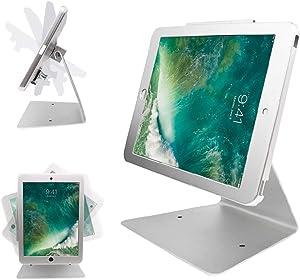 iPad Stand Holder iPad Desktop Kiosk Anti-Theft Security POS Stand Holder Enclosure with Lock and Key for iPad 2017 & 2018, iPad air/air 2, iPad Pro 9.7