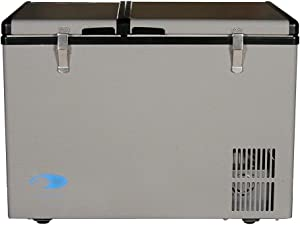 Whynter 62 Quart Dual Zone Portable Fridge, AC 110V/ DC 12V True Freezer for Car, Home, Camping, RV-8°F to 50°F, One Size, Gray