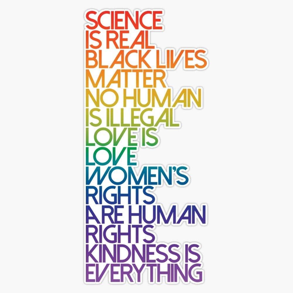 Science Is Real Black Lives Matter Sticker Sticker Vinyl Bumper Sticker Decal Waterproof 5