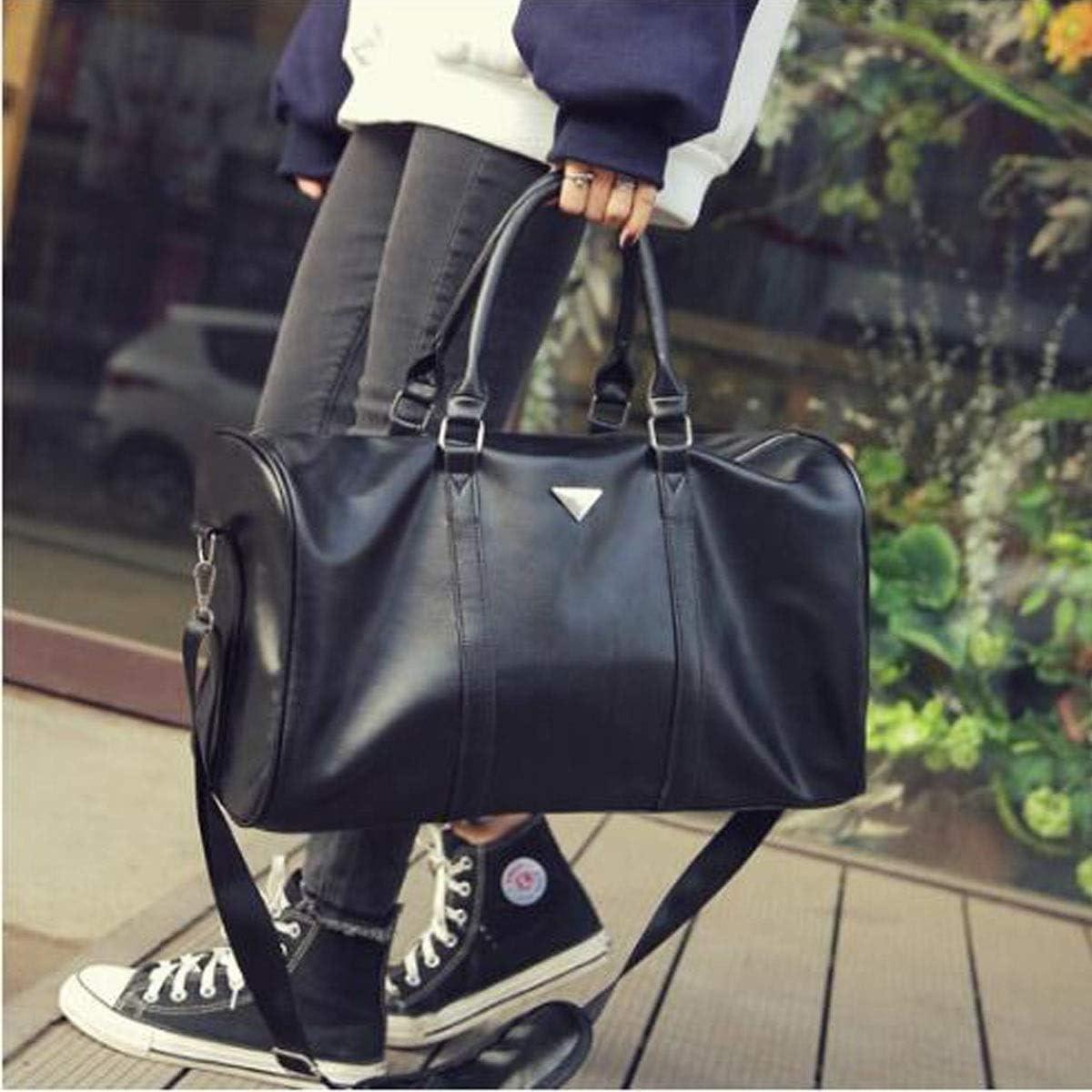 New Short-Distance Travel Bag Kaiyitong Sports Bag Large-Capacity Duffel Bag Black Large Size: 422024cm Color : Black Female Hand-held Waterproof Gym Bag Mens Business Bag