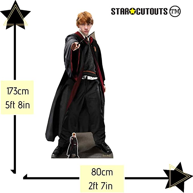 Star Cutouts Ltd SC1467 Ron Weasley Wizard - Figura Decorativa (173 cm), Multicolor