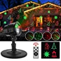 Zinuo Christmas Laser Lights, Waterproof Projector Lights with RF Wireless Remote for Outdoor Garden/Patio/Wall Xmas Party KTV Wedding Club Holiday Decorations (Christmas Projector)