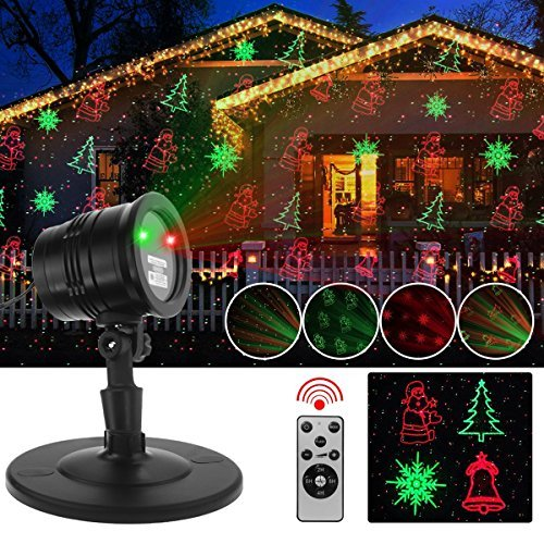 r Lights, Waterproof Projector Lights with RF Wireless Remote for Outdoor Garden/Patio/Wall Xmas Party KTV Wedding Club Holiday Decorations (Christmas Projector) ()