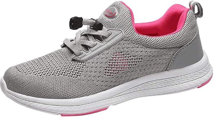 WINLISTING Zapatillas Running Mujer Zapatos Deporte para Correr Trail Fitness Ligero Transpirable Sneakers EU 35-40: Amazon.es: Zapatos y complementos