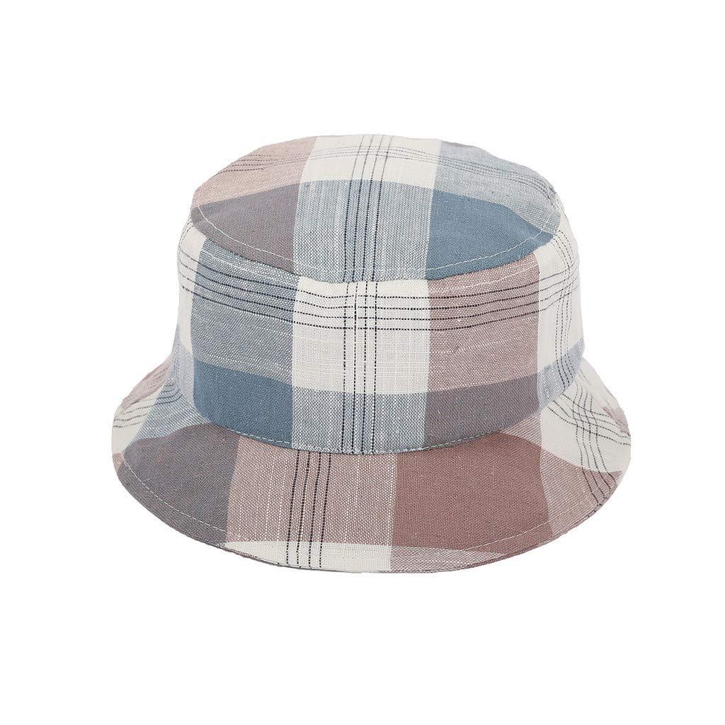Summer Fishing Hat Outdoor Sun Hat Plaid Print Beach Cap 3 Style Choice
