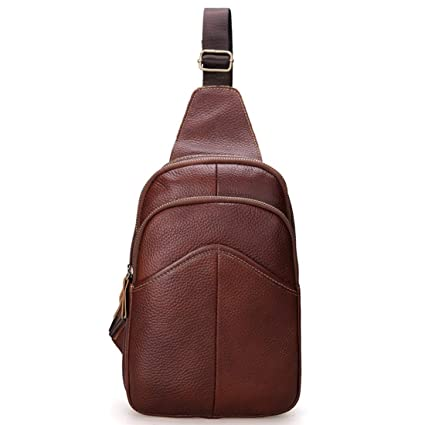 c0ddd7d1f5 Image Unavailable. Image not available for. Color  Carriemeow Male  Crossbody Bag Shoulder Bags Genuine Leather Chest Bag Sports and Leisure ...