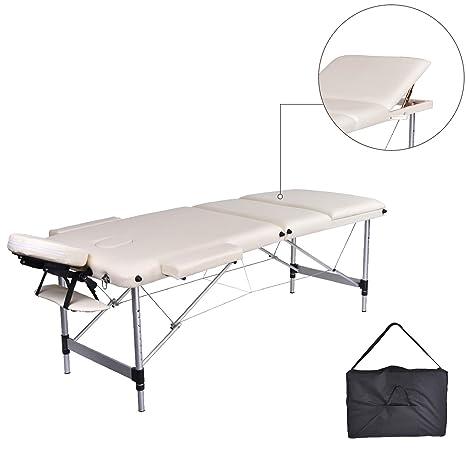 Lettino Da Massaggio Portatile In Alluminio.Mc Dear Lettino Da Massaggi Alluminio 3 Zone Pieghevole Portatile
