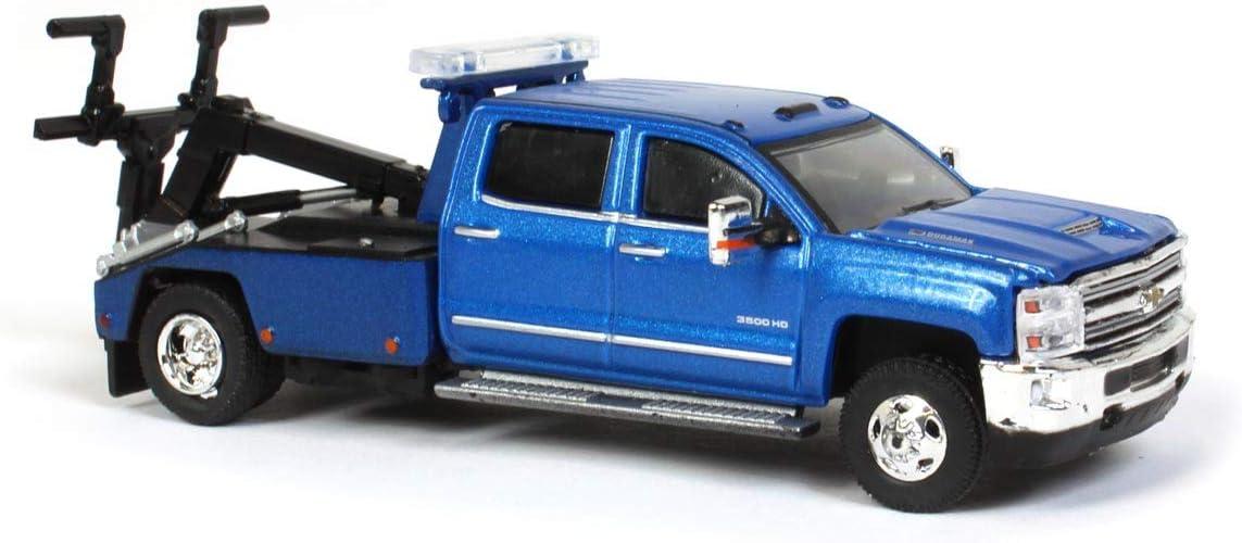 Greenlight 2018 Silverado 3500HD Dually Wrecker Tow Truck Blue Dually Drivers Series 5 1//64 Diecast Model Car 46050 D