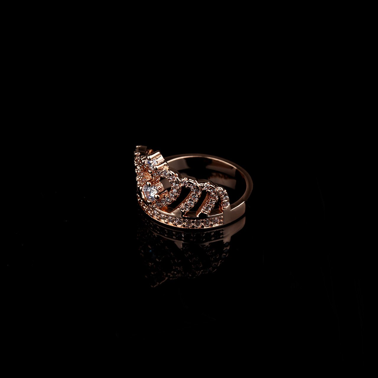 Rose 2018 crown rings fashion jewelry copper products anti allergy fashion temperament