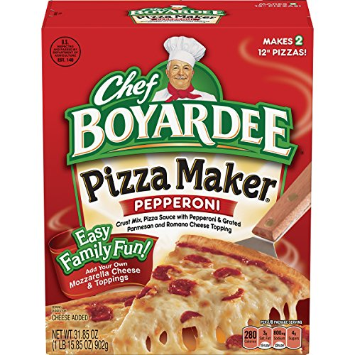 Chef Boyardee Pepperoni Pizza Maker Kit, 31.85 Ounce (Pack of 6)