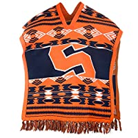 NCAA Syracuse Orange Poncho, Orange, Adult Size