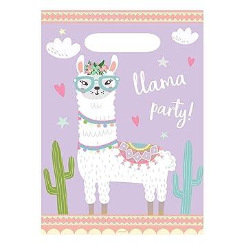 8 Bolsas de Fiesta * Llama * para cumpleaños Infantiles y ...