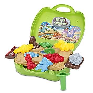 a13b325e4 RosyXandy Juguete de la maleta BOWA Juguete de los niños Masa - Dinosaurio:  Amazon.es: Bricolaje y herramientas