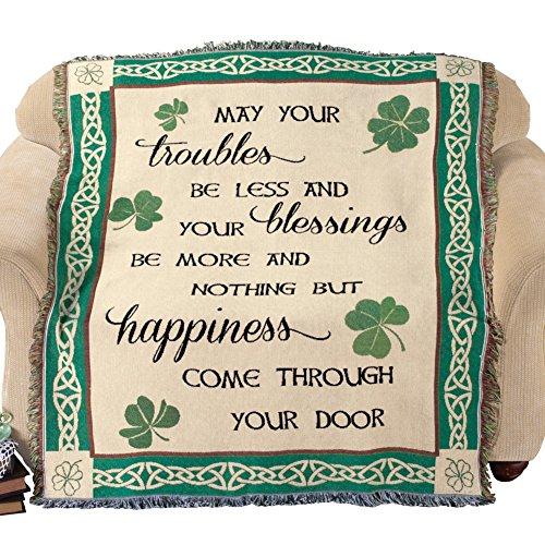 Blessings Shamrock Patricks Tapestry Blanket product image