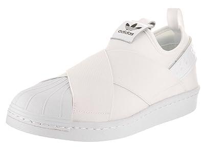 adidas Originals Women's Superstar Slip on W Sneaker, White/White/Black, 5