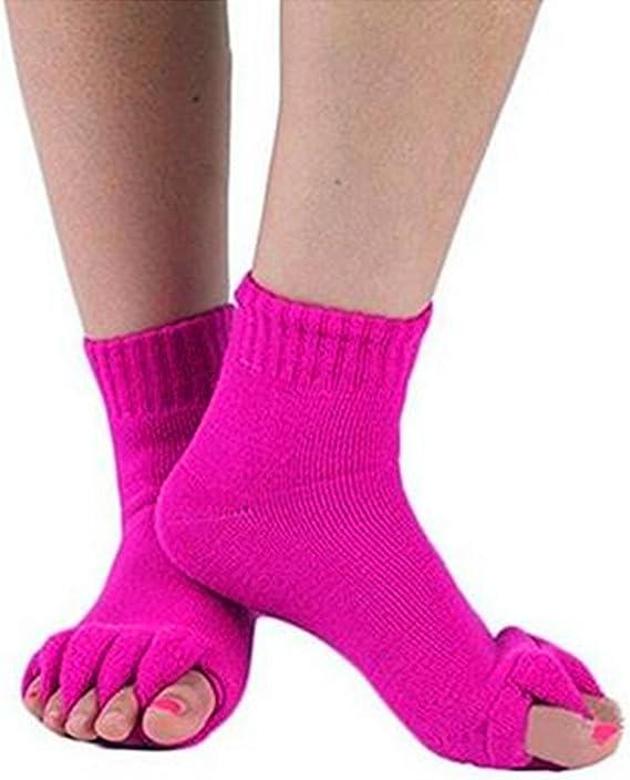 Unbekannt 1 Paar Yoga Massage Socken Zehentrenner Fu/ßausrichtung Schmerzlinderung Halber Zeh Kompressions Socken von SamGreatWorld