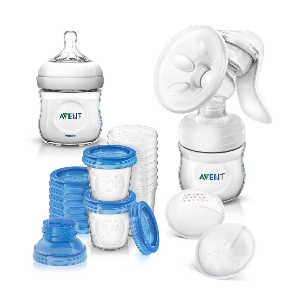 Philips AVENT Naturnah Starter-Set Stillen inkl. Aufbewahrungssystem für Muttermilch -- ab Geburt