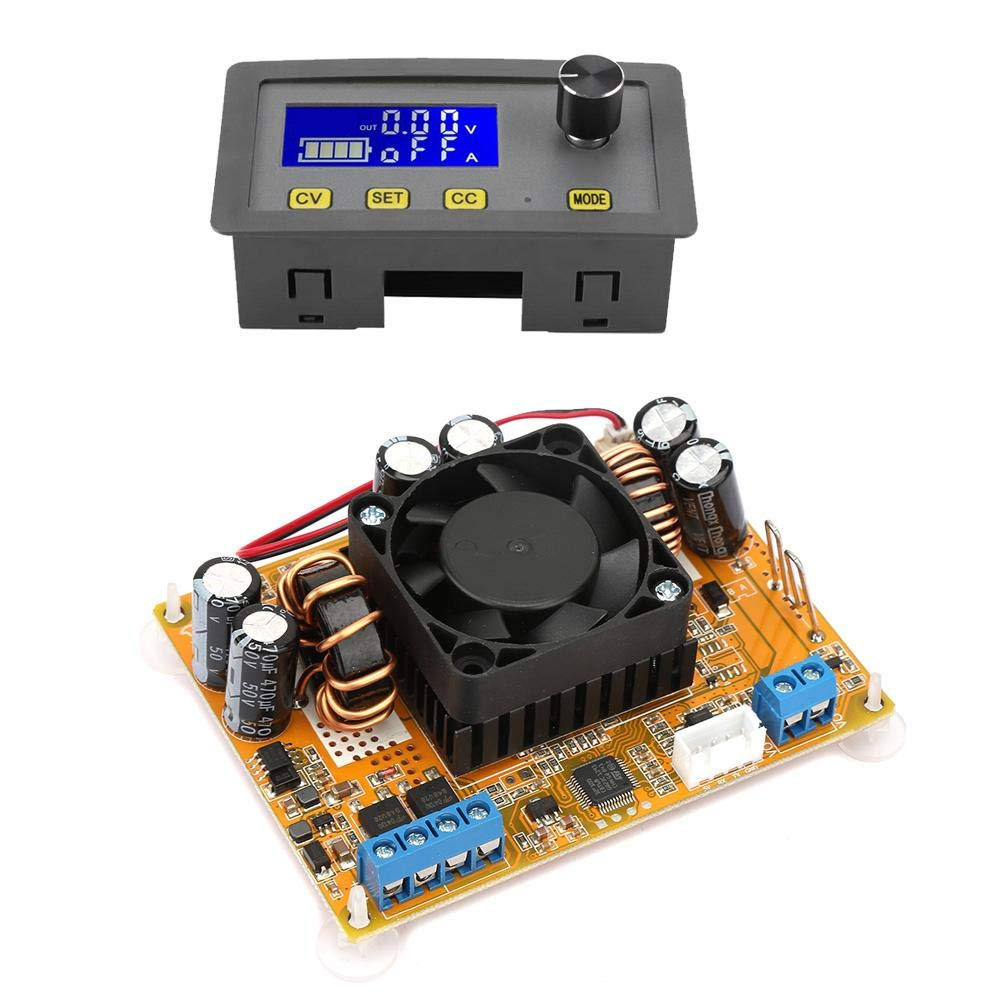 Power Source Module DC-DC 5A LCD Digital Automatic Step-Down//Up Module with Fan 6V-32V to 0-32V