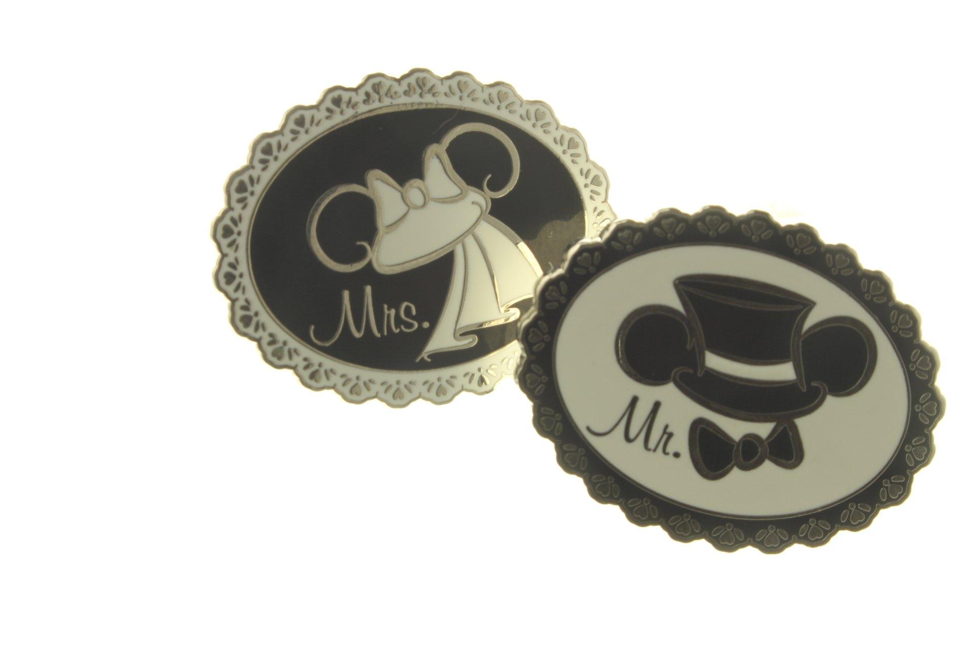 Disney's Wedding Ear Hats - 2 Pin Set
