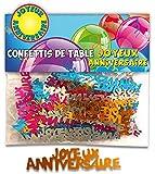 CONFETTIS DE TABLE -TOP DECO FETE-TOCADIS - JOYEUX ANNIVERSAIRE