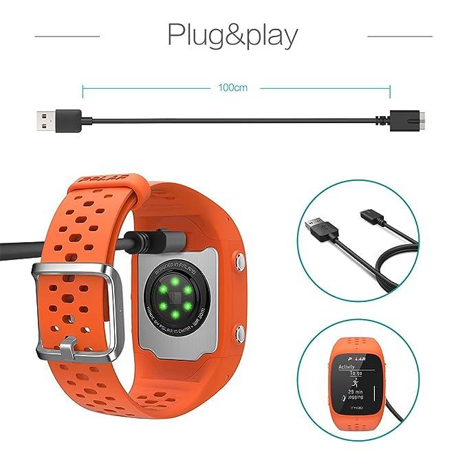 Amazon.com: TUSITA Cargador para Polar M430 GPS Reloj ...