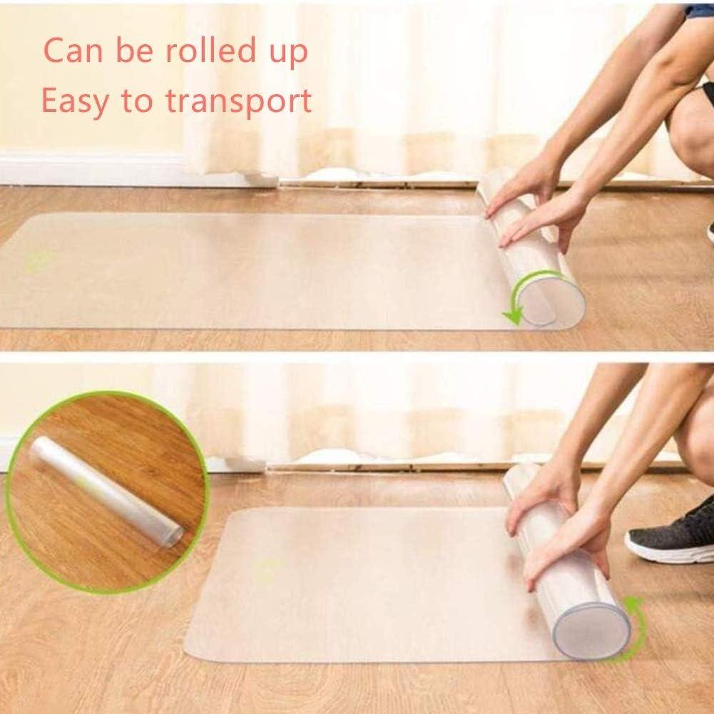 4 Dicken Support-Anpassung Color : 1.3mm, Size : 0.4x0.6m ALGFree-Bodenschutzmatte Bodenschutzmatte PVC Bereift Fu/ßmatte Wasserdicht Teppich Tischdeckenschutz