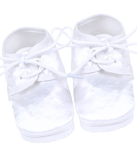 8517cb5864d29 BabyPrem Baby Boys Christening Shoes Bootees Satin NB - 3 Months FULL LACE  UP: Amazon.co.uk: Clothing