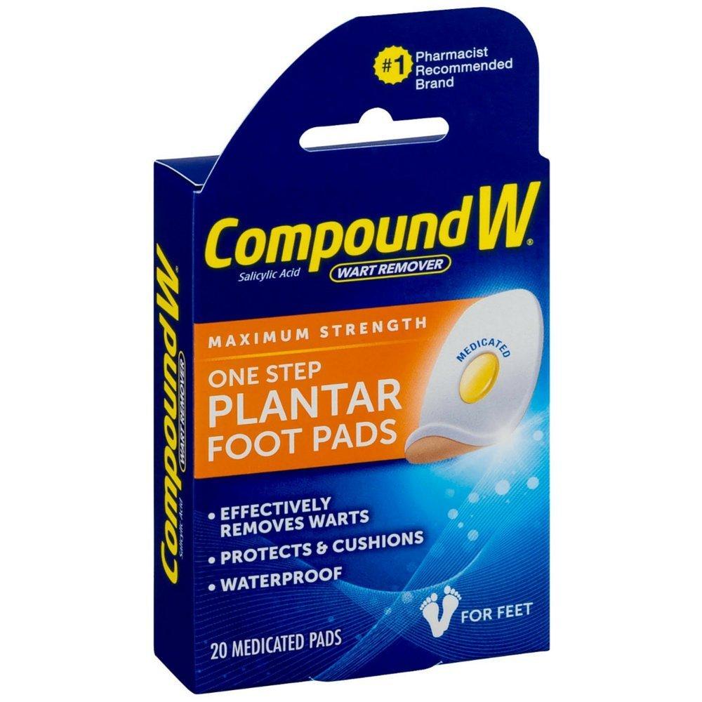 Compound W Maximum Stregth One Step Plantar Foot Pads,20 ea
