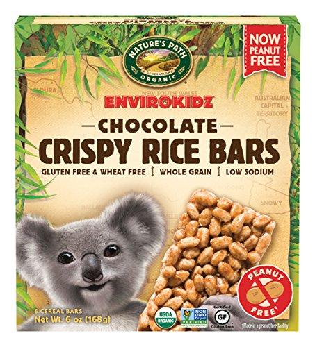EnvirokidzOrganic Gluten-Free Crispy Rice Bars, Koala Chocolate, 6 Ounce (Pack of 6)