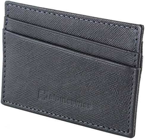 Alpine Swiss Alpine Swiss Front Pocket Wallet Minimalist Super Thin 5 Card Wallet Genuine Leather