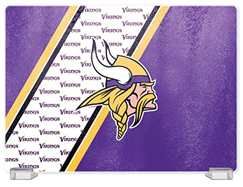 - NFL Minnesota Vikings Tempered Glass Cutting Board with Display Stand