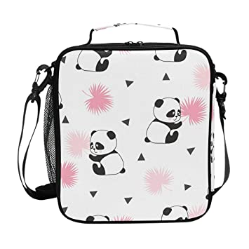 Amazon.com: Fiambrera aislada con tiras de panda, bolsa de ...
