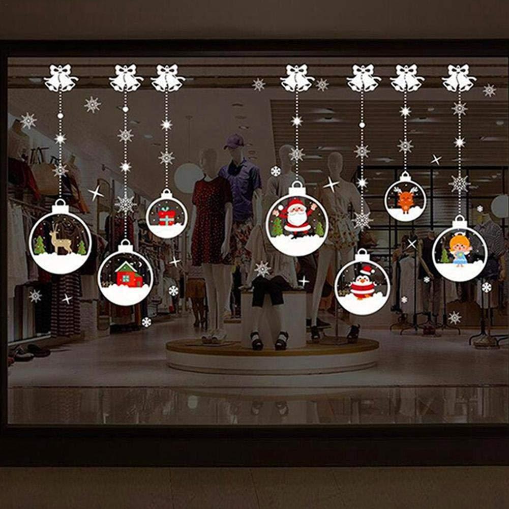 Autocollant De Fen/être D/écoration De No/ël,Joyeux No/ël Sticker Mural DIY Fen/être Sticker D/écoration De No/ël D/écorations De Noel