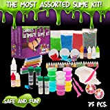 Ultimate Slime Supplies Kit By Gabriells with Magnet Powder,Glow in the dark Powder, 7 Different scents and over 75 different slime accessories
