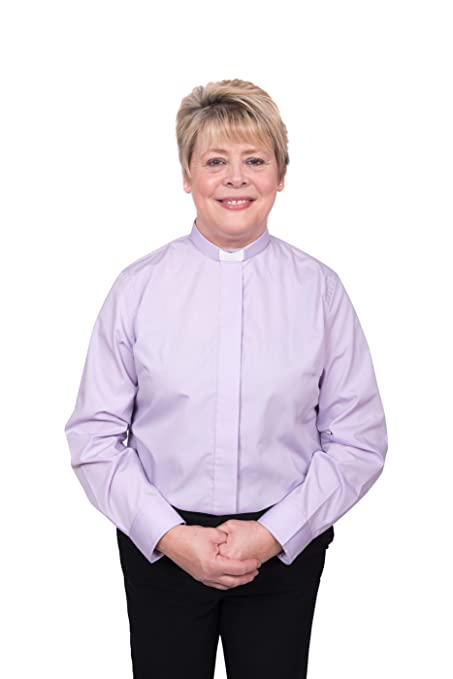 c3ecfe4ba0b4c Ladies Clergy Shirt - Tab Collar Long Sleeve at Amazon Women s Clothing  store