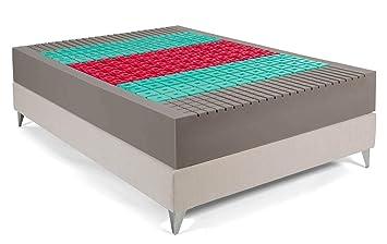 Bedland ▻ Colchón Viscoelástico ML 700, Color Beige (135cm x 190cm). Colchón con máxima adaptabilidad y 5 Zonas de Descanso diferenciadas. ¡La Mejor Cama!: