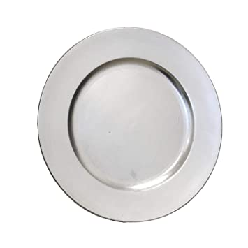 Deko Platzteller Teller Event Teller Unterteller Silber Farbend
