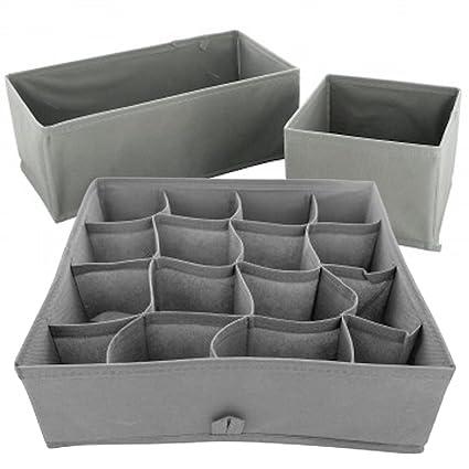 Superieur Sock U0026 Underwear Storage Box Organizer Set | Walk In Closet Shelf U0026 Dresser  Drawer Dividers
