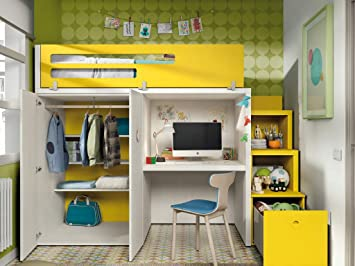 Ambiato Chambre D Enfant Vita 41 Lit Mezzanine Avec Escalier