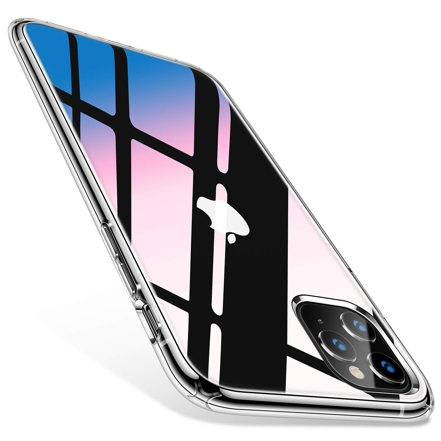 TORRAS Hybrid Clear iPhone 11 Pro Max Case, Slim Fit Hard Plastic Shockproof with X-Shock Protection Phone Case for iPhone 11 Pro Max 2019, Clear by TORRAS